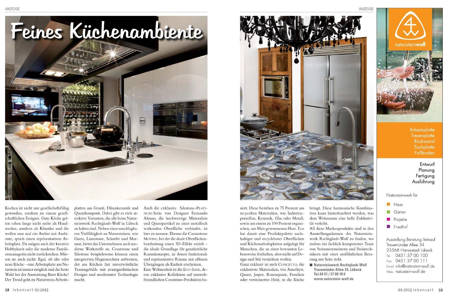 Outdoor Küchen Lübeck : Naturstein wolf presseinformationen und presseberichte